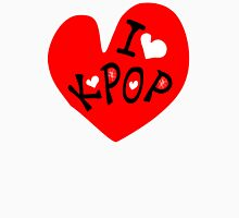 I love k-pop txt heart vector graphic line art Women's Fitted V-Neck T-Shirt