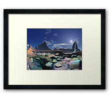 Morning on Rainbow Pebble Bay Framed Print