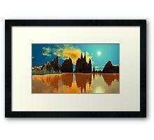 """""""LOVELY LAKES OF WISDOM"""" Framed Print"""