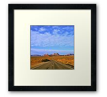 Highway 163 to Monument Valley Framed Print