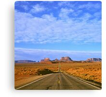 Highway 163 to Monument Valley Canvas Print