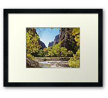 Virgin River in Zion Framed Print
