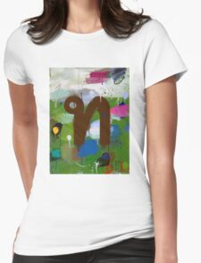 """Thai Characters """"ท"""" Womens Fitted T-Shirt"""