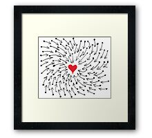 One Heart One Love One Direction Framed Print