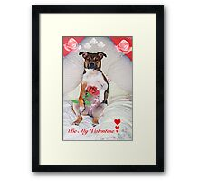 Be My Valentine xx Framed Print