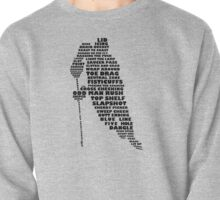 Hockey Player Typography Pullover