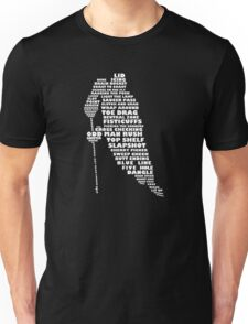 Hockey Player Terminology Calligram Unisex T-Shirt