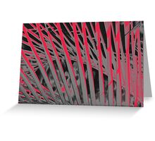 Pandanas Black & Red Greeting Card