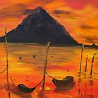 Tropical Evening, Sunset, boats and birds  by Kym  Breeze