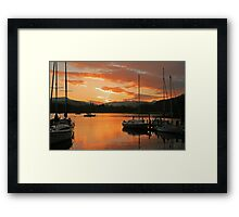 Waterhead Sunset Framed Print