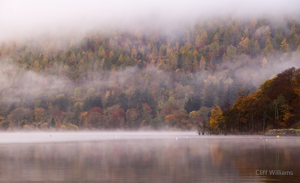 Mist on Loch Tay, Perthshire, Scotland by Cliff Williams