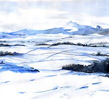 Snow on Bennachie by Genevieve  Cseh