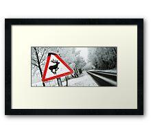 """""""Reindeers .....NO!""""  Framed Print"""