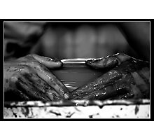....create and shape with your hands Photographic Print