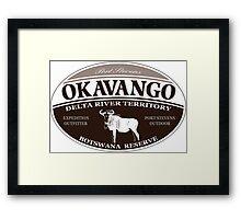 Okavango Wildebeest Framed Print