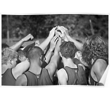 """""""Go Team"""" -pulling together as a team (b/w) Poster"""