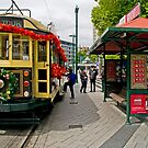 Christmas Tram - Christchurch New Zealand by Paul Gilbert