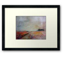 warm landscape Framed Print