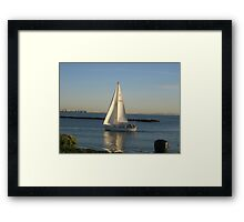 I must seet sail on my new journey of discovery  Framed Print