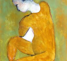 seated nude by Brooke Wandall