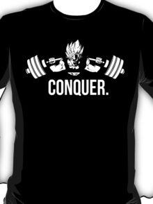 CONQUER - Super Saiyan Goku Squat T-Shirt