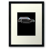 MINI, CAR, BLACK, BMW, BRITISH ICON, MOTORCAR Framed Print