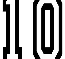 10, TEAM SPORTS NUMBER, TEN, TENTH, Competition by TOM HILL - Designer