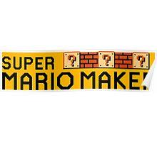 Super Mario Maker Poster