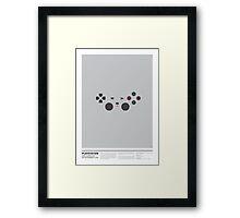 PLAYSTATION minimal joypad Framed Print