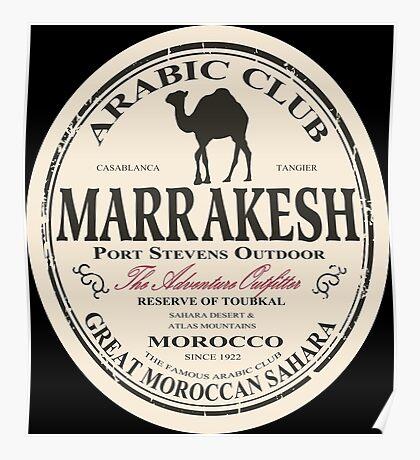 Marrakesh camel Poster