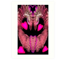 Feathered Fractal Heart Art Print