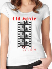 Old Movie Style 1 Women's Fitted Scoop T-Shirt