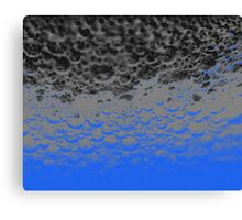 Blue Bubbles Canvas Print