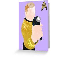 Captain Kirk Poster Greeting Card