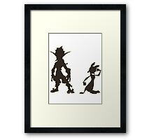 Jak and Daxter: The Precursor Legacy Silhouette Framed Print