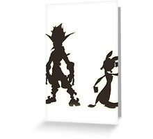 Jak and Daxter: The Precursor Legacy Silhouette Greeting Card