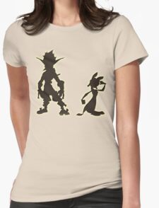 Jak and Daxter: The Precursor Legacy Silhouette Womens Fitted T-Shirt
