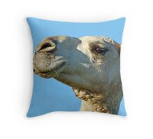 Miss Manners' profile Throw Pillow