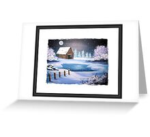 The Old Barn in Winter Greeting Card