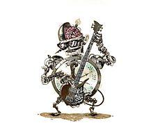 Robot guitar player Photographic Print