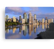 Brisbane River and City at dawn. Queensland, Australia. Metal Print