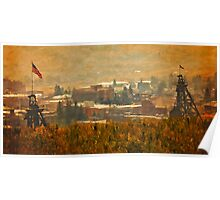 Butte Montana - Two Mining Frames Poster