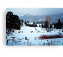 Winter Wonderland at Mont Tremblant Canvas Print