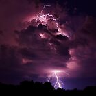 Lightning strike enlarged by Gregg Williams