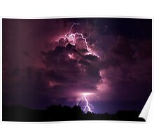 Lightning strike enlarged Poster