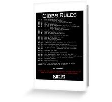 NCIS - GIBBS RULES  Greeting Card