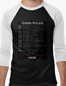 NCIS - GIBBS RULES  Men's Baseball ¾ T-Shirt