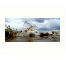 Clouds Sea Sand 11 Art Print