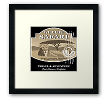 Lion Safari Framed Print