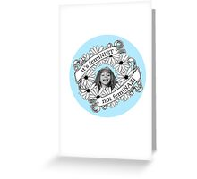 It's Feminist, Not Feminazi: in Blue Greeting Card